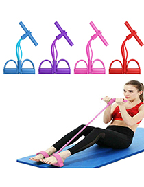 Fashion Four Strands Of Pink Yoga Pedal Four-strand Leg Spring Tensioner