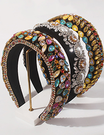 Fashion Color Alloy Resin Geometric Headband