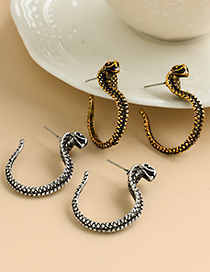 Fashion Silver Color Alloy Snake Earrings