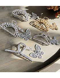 Fashion Semicircular Silver Butterfly Love Pendant Hollow Alloy Clamp