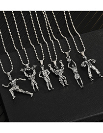 Fashion Runner Muscle Mens Titanium Fitness Master Pendant Necklace