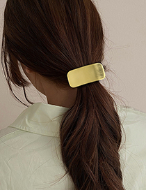 Fashion Round Geometric Metal Hollow Square Elastic Hair Rope