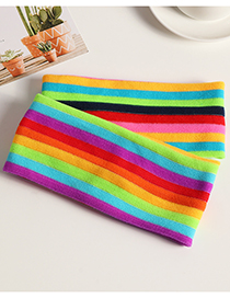 Fashion Color Rainbow Contrast Color Yoga Sports Headband