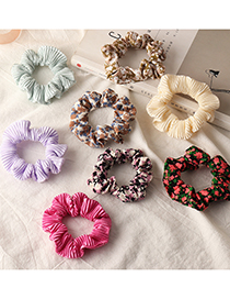 Fashion Beige Flannel Printed Large Intestine Hair Cord