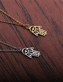Fashion Gold Color Titanium Steel Stainless Steel Palm Pendant Necklace