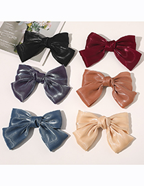 Fashion Snow Tooth Bowknot Bright Gauze Hairpin