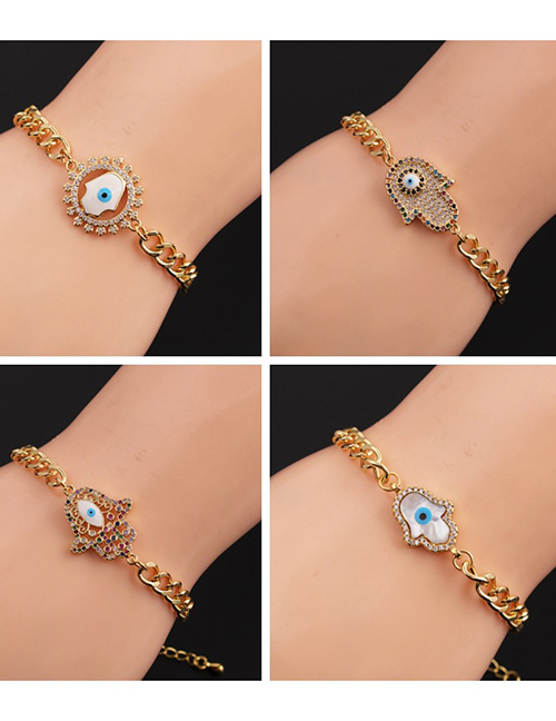 Fashion 1# Copper Plated Real Gold Eye Bracelet