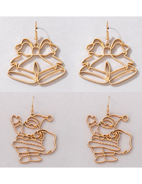 Fashion Bells Alloy Hollow Christmas Bell Earrings
