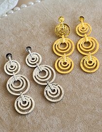 Fashion Gold Color Alloy Round Geometric Earrings