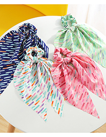 Fashion Pink Horizontal Ribbon Tying Hair Printing Triangle Ribbon Hair Rope