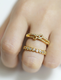 Fashion Round 1 Geometric Round Copper Gold-plated Open Ring