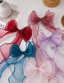 Fashion Pink Childrens Braided Hairpin With Bow And Ribbon