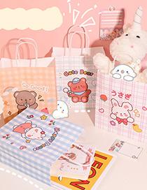 Fashion Scooter Bear Printed Animal Large Portable Paper Gift Bag