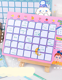 Fashion Month Plan Pink Monthly Plan Book Clock-in Student Plan Table Office Notebook