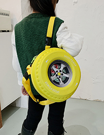 Fashion Yellow Tire Print Kids Backpack