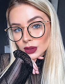 Fashion 3leopard Print/anti-blue Light Crystal Multi-faceted Frame Tr95 Round Frame Anti-blue Light Can Be Equipped With Myopia
