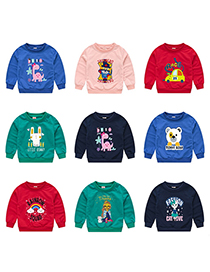 Fashion Royal Blue 1 Childrens Cartoon Pullover Sweater 1-7 Years Old