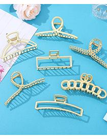 Fashion Hollow Shark Clip Oversized Metal Geometric Hair Grab