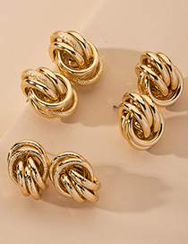 Fashion Matte Metal Knotted Earrings