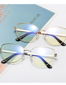 Fashion C7 Upper Burgundy Lower Rose Gold/anti-blue Light Metal Cat Ears Anti-blue Light Can Be Equipped With Myopia