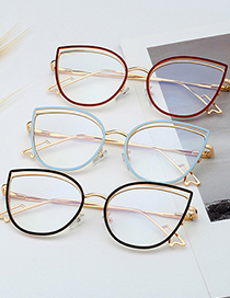 Fashion C13 Leopard Print/anti-blue Light Metal Anti-blue Light Flat Mirror Can Be Equipped With Myopia