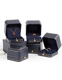 Fashion Golden Octagon Single Ring Box Jewelry Box