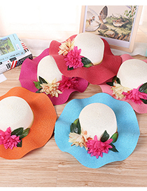 Fashion Style Seven Lace Sun Shade Straw Hat