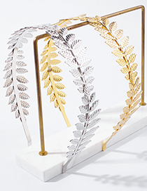 Fashion Golden Alloy Leaf Headband