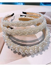 Fashion Starry Sky (small Size -2cm Wide) Highlight Pearl Headband