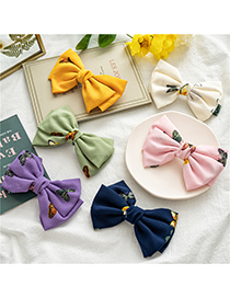 Fashion Pink Fabric Double-layer Bow Hairpin