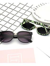 Fashion Pink Camouflage/rose Gold Mustache Camouflage Childrens Sunglasses