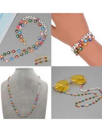Fashion Section 3 Eyeglasses Chain With Soft Earthenware Love Letters