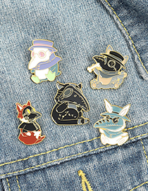 Fashion Section 1 Crow Cartoon Paint Brooch
