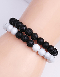 Fashion 6mmm Frosted Stone Mama Letter Frosted Stone Mama Beaded Bracelet