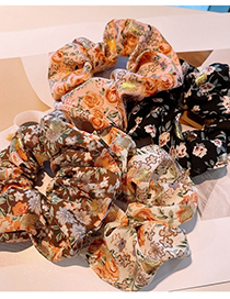 Fashion Black Floral Floral Oversized Hair Band