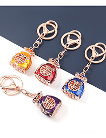 Fashion Red China Wind Alloy Diyou Fortune Money Bag Pendant