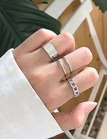 Fashion Silver 3-piece Alloy Ring Set