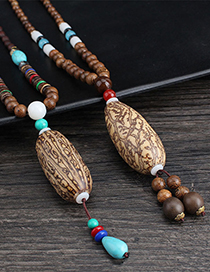 Fashion Thousand Eyes Bodhi Wooden Bead Chain No. 2 Thousand Eyes Bodhi Wooden Bead Necklace