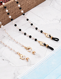 Fashion White Pearl Crystal Millet Bead Glasses Chain