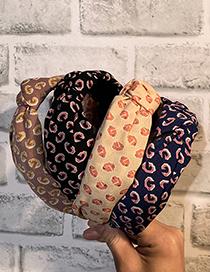 Fashion Black Knotted Gold Powder Letter Fabric Headband