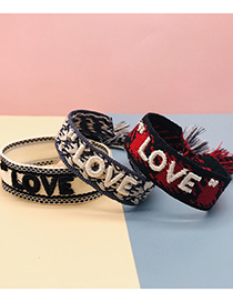 Fashion Smile 1# Tassel Letter Embroidery Braided Hand Rope