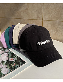 Fashion Green Letter Embroidery Curved Brim Baseball Cap