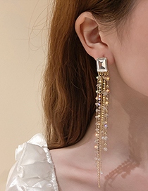 Fashion Crystal Earrings Crystal Tassel Earrings