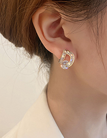 Fashion Letter Zircon Letter Zircon Stud Earrings
