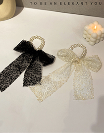 Fashion White Lace Bow Hair Tie