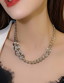 Collar De Cadena De Diamantes De Imitación