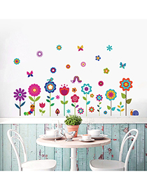 Fashion Ksr25-1 Bug Butterflies Insects Sunflowers Flowers And Grass Wall And Floor Corner Stickers