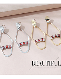 Fashion Platinum Real Gold-plated Zircon Cutout Earrings