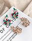Fashion Champagne Alloy Studded Irregular Earrings