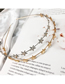 Fashion Gold Alloy Five-pointed Star Hair Band